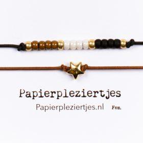 ByZon Sterretje - bruin/zwart/wit